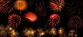 foto of 24th  - Colorful fireworks over dark sky displayed during Barcelona Patron Saint La Merce  - JPG