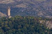stock photo of william wallace  - National Wallace Monument on the hill Stirling Scotland - JPG