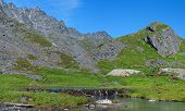 stock photo of hatcher  - Beaver dam in Archangel Valley in Hatcher Pass Alaska - JPG