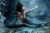 stock photo of mermaid  - mythology being - JPG