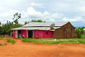 stock photo of mud-hut  - a typical house built with mud Africa - JPG