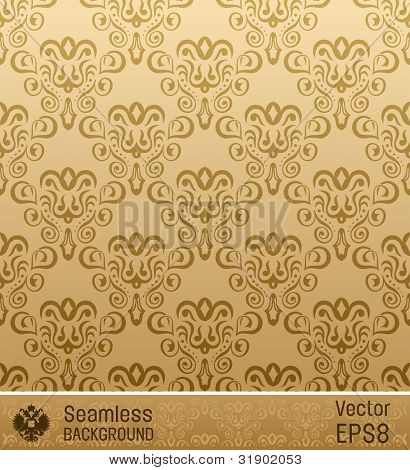 seamless wallpaper vintage old retro background raster. Vector copy search in my portfolio