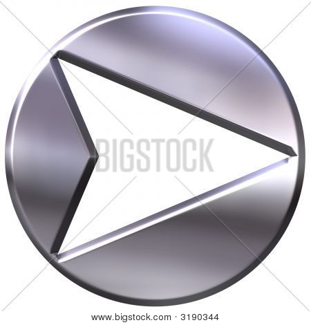 3D Silver Framed Arrow