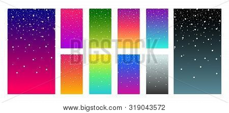 poster of Soft Color Vibrant Gradient Modern Screen Vector Ux Ui Design Palette For Mobile. Living Smooth Colo