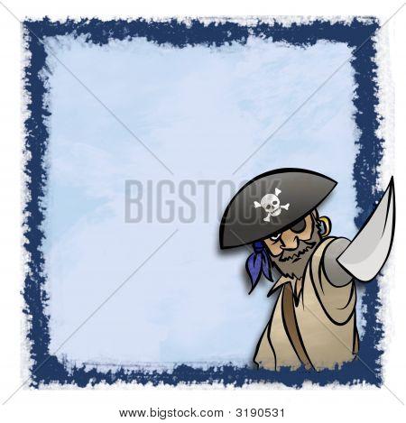 Marco pirata azul