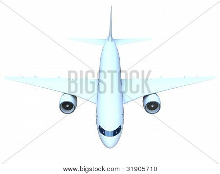 Jet Airplane Front View