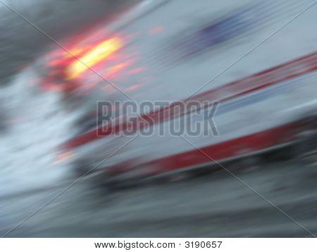 Winter Accident Ambulance Blur
