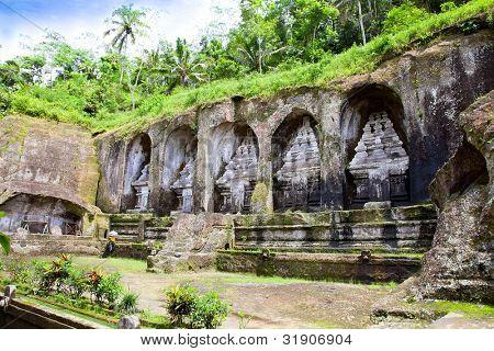 Gunung Kawi Temple and Candi (shrines) in  jungle at Bali, Indonesia