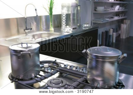 Saucepan On A Gas Fryer
