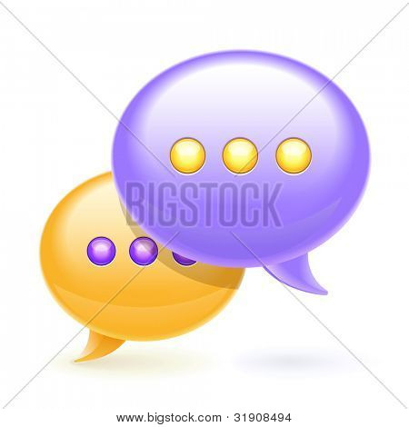 Chat bubbles icon,eps10 vector illustration