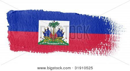 Brushstroke Flag Haiti