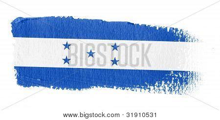 Brushstroke Flag Honduras