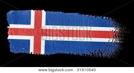 Brushstroke Flag Iceland