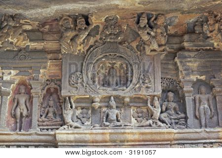 Ancient Religious Carvings At Ellora Caves
