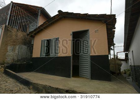 NOVO CRUZEIRO, BRAZIL - JULY 27: A simple home is shown on July 27, 2005 in Novo Cruzeiro, Brazil. Over 10,000 residents (of approx 30,000) still engage in agriculture, which is mainly subsistence.