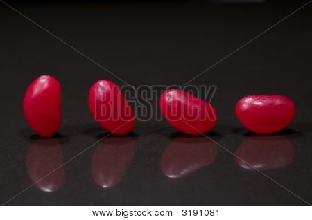 Four Red Jellybeans