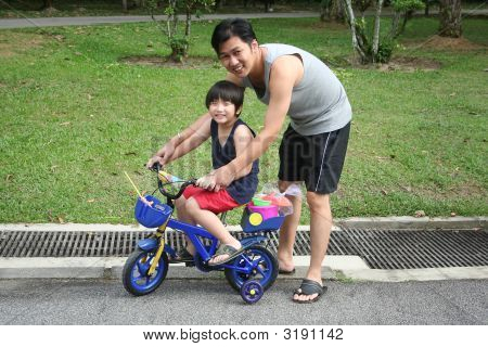 Father & Son Cycling