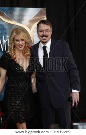 LOS ANGELES, CA - 19 de FEB: Vince Gilligan en el gremio de escritores de 2012 premios en el Hollywood Palladium
