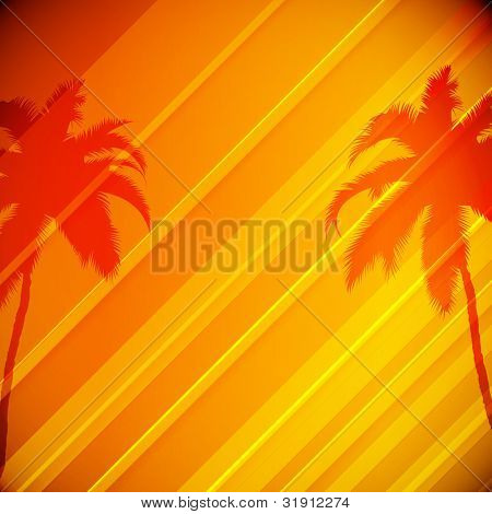 Tropical Background with Palm Trees - EPS10 Design