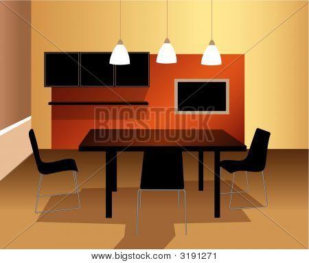 Dining Room Vector Dining Room Vector