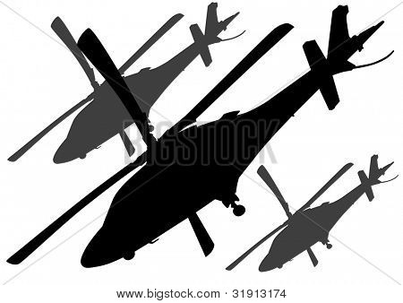 drawing a big military helicopter