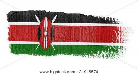Brushstroke Flag Kenya