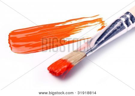 Samples of colorful paint over white background