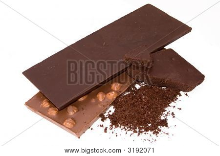 Slabs Chocolate And Grated Chocolate