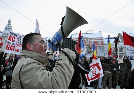 Rua protesto contra tratado ACTA