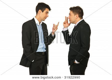 Business Men Having Skirmish