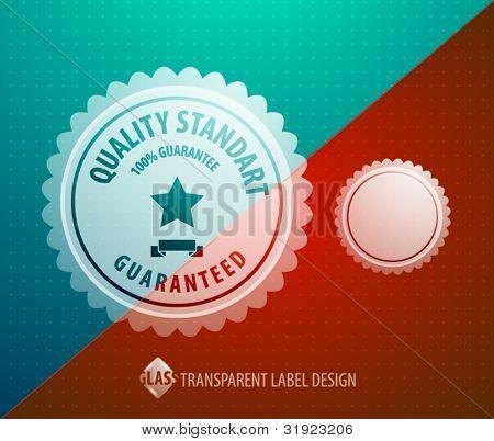 Vector transparent label