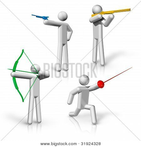 Deportes símbolos iconos serie 1