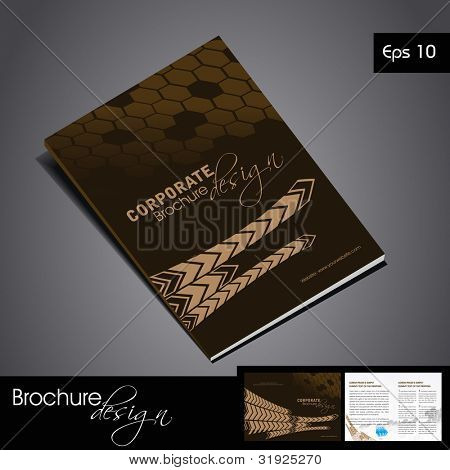 Design for document publishing print and presentation vector