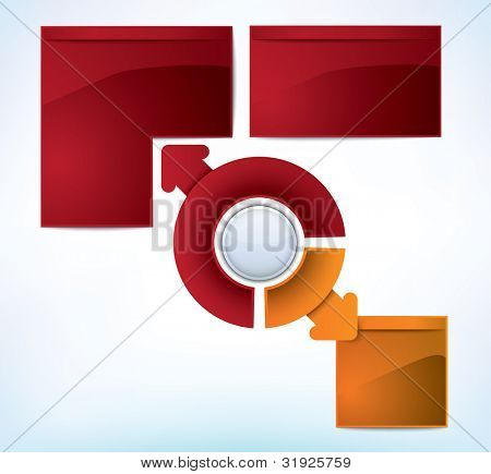 Multicolored presentation template with multiple directions and place for text - JPG version of a vector illustration from my portfolio