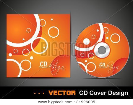 Vector illustration of CD cover design template with copy ...
