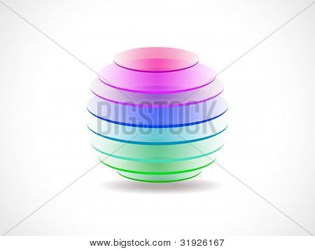Professional corporate or business template for financial presentation showing 3D colorful globe, isolated on white background. EPS 10.