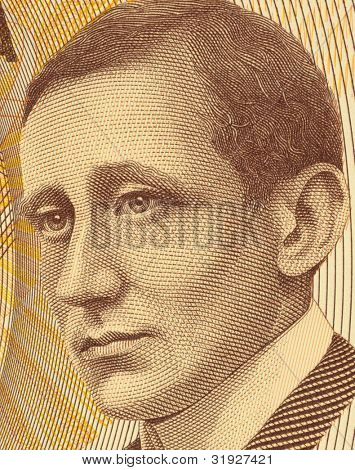 ITALY - CIRCA 1990: Guglielmo Marconi (1874-1937) on 2000 Lire 1990 Banknote from Italy. Italian inventor best known for his development of Marconi's law and a radio telegraph system.