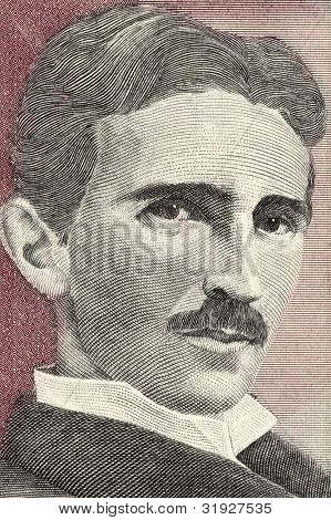 YUGOSLAVIA - CIRCA 1994: Nikola Tesla (1856-1943) on 5 Novih Dinara 1994 Banknote From Yugoslavia. Best known as the Father of Physics.