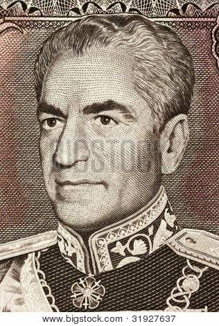 IRAN - CIRCA 1974: Reza Shah Pahlavi (1878-1844) on 20 Rials 1974 Banknote from Iran. Shah of the Imperial State of Iran during 1925-1841.