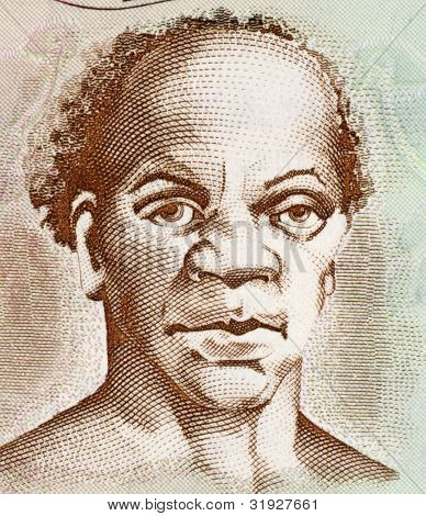 JAMAICA - CIRCA 2009: Samuel Sharpe (1801-1832) on 50 Dollars 2009 Banknote from Jamaica. Slave leader behind the Jamaican Baptist War slave rebellion.
