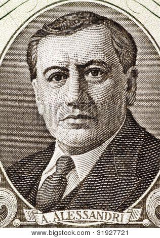 CHILE - CIRCA 1964: Arturo Alessandri (1868-1950) on 50 Escudos 1964 Banknote from Chile. Chilean politician who served twice as the President of Chile.