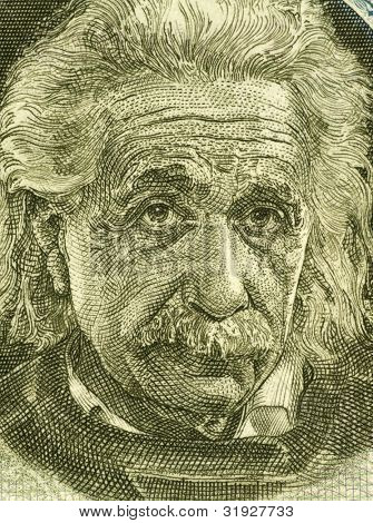 ISRAEL - CIRCA 1968: Albert Einstein (1879-1955) on 5 Pounds 1968 Banknote from Israel. German born theoretical physicist regarded as the father of modern physics.