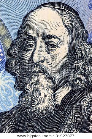 CZECHOSLOVAKIA - CIRCA 1988: John Amos Comenius (1592-1670) on 20 Korun 1988 Banknote from Czechoslovakia. Czech teacher, educator and writer.