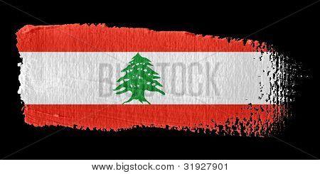 Brushstroke Flag Lebanon