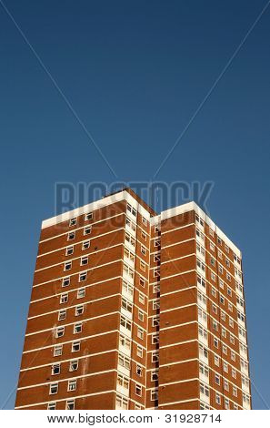 Council flat tower block.