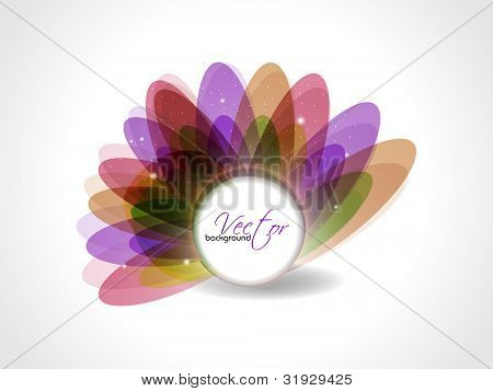 Beautiful colorful floral abstract, isolated on white background and space for yor text. Vector illustration in EPS 10.