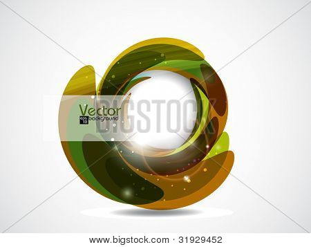 Beautiful colorful floral abstract, isolated on white background and space for your text. Vector illustration in EPS 10.