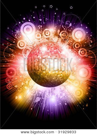 Abstract mirror ball background