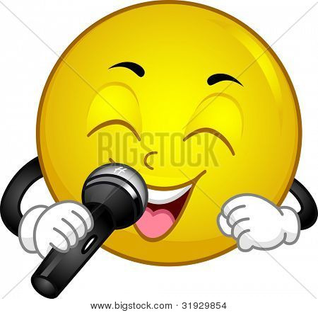 Illustration of a Singing Smiley