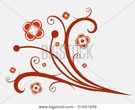 """Flowers ornament. To see all my ornaments, search by keywords: """"agb-ovect"""" or """"agb-orastr"""""""